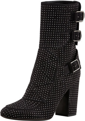 Laurence Dacade Merli Triple-Buckle Studded Mid-Calf Boot