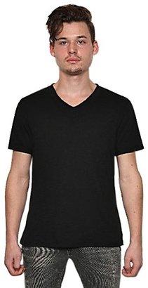 Neil Barrett Heathered Jersey V Neck T-Shirt