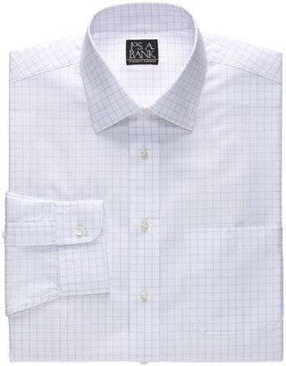 Jos. A. Bank Traveler Spread Collar Pattern Dress Shirt