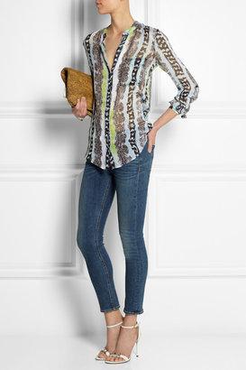 Diane von Furstenberg Gilmore printed silk-chiffon blouse