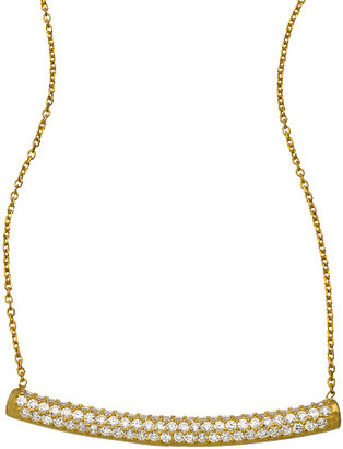 Seraphina Gold and CZ Bar Necklace