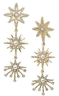 BaubleBar Galatic Triple Starburst Drop Earrings