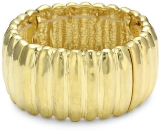 "Kenneth Cole New York ""Urban Desert"" Gold-Tone Textured Stretch Bracelet, 7.5"""