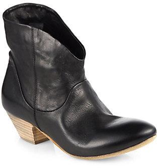 Elisanero Cowboy Leather Ankle Boots