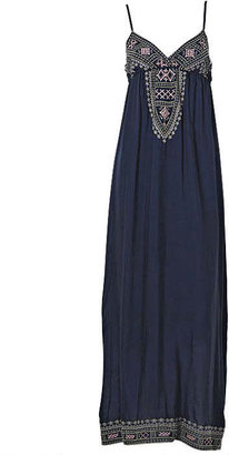 Adelina Lov Posh Embroidered Maxi Dress