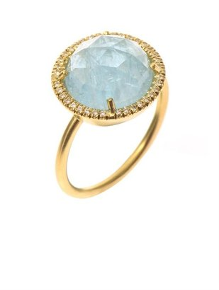 Irene Neuwirth Diamond, aquamarine & yellow-gold ring