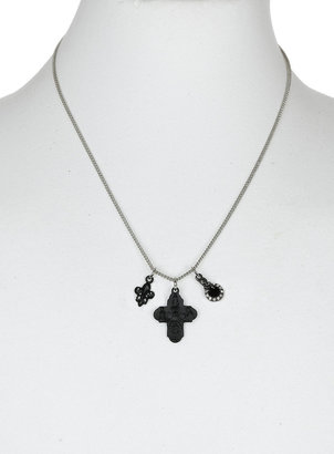 Topman Crystal Charm Cluster Necklace