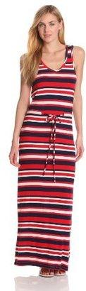 Bobi Women's Striped Sleeveless Maxi Dress
