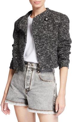 Etoile Isabel Marant Hakuni Cropped Wool-Blend Jacket