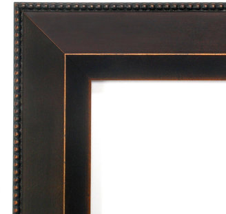 Amanti Art Signore Bronze-Tone Traditional Wood Square Wall Mirror