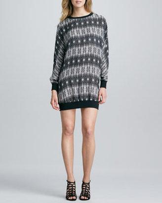 Haute Hippie Printed Sweatshirt Dress