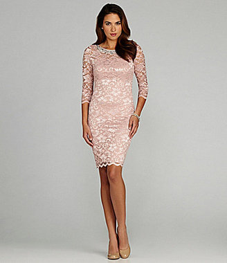 Marina Boatneck Lace Dress
