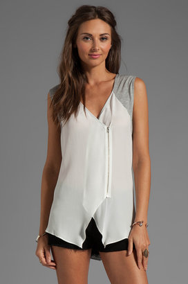 Tracy Reese Soft Solids Combo Blouse