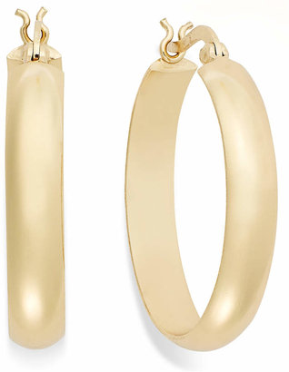 """Giani Bernini 18k Gold over Sterling Silver Large Hoops, 1-3/4"""""""