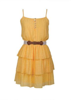 Delia's Button Tiered Strappy Dress