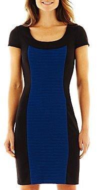 JCPenney Short-Sleeve Colorblock Dress