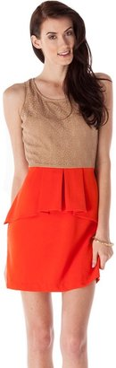 Romeo & Juliet Couture Lace Top Peplum Dress