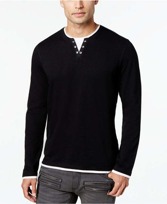 INC International Concepts I.n.c. Men Layered Long-Sleeve Shirt