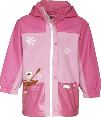 Playshoes Baby Girl's Rain Coat with Fleece Lining Pink 9-12 Months (Manufacturer size :80 cm)