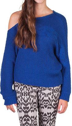 Jessica Simpson Asymmetrical Cable Sweater Juniors