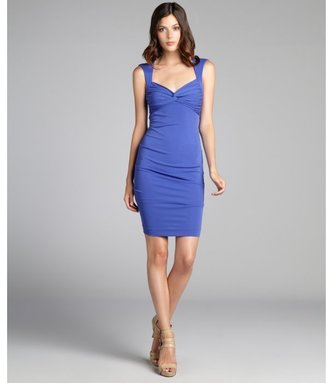 Nicole Miller new cobalt 'Felicia' stretch matte jersey dress