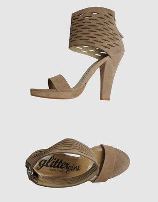 Glitter Pink High-heeled sandals