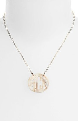 Moon and Lola Women's Small Personalized Monogram Pendant Necklace (Nordstrom Exclusive)