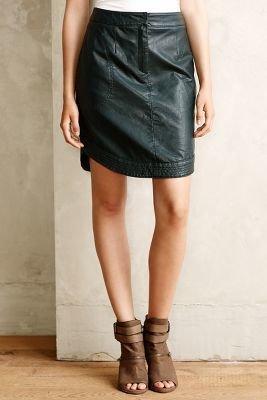 Anthropologie Maeve Rounded Vegan Leather Skirt