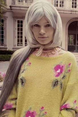 Wildfox Couture Little Edie Lennon Sweater in Butter