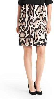 Diane von Furstenberg Mae Leopard Print Pencil Skirt