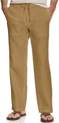 Tasso Elba Men's Linen Drawstring Pants, Only at Macy's $69.50 thestylecure.com