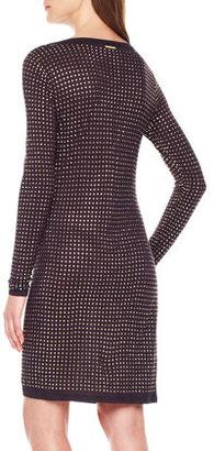 MICHAEL Michael Kors Studded Long-Sleeve Dress