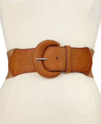 "Lauren Ralph Lauren Belt, 2-1/4"" Sparkly Stretch Belt"