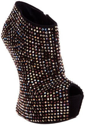 Giuseppe Zanotti Design embellished sculpted wedge bootie