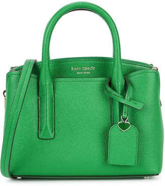 Kate Spade Margaux Mini Green Leather Top Handle Bag
