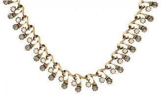 Yochi Design Art Deco Circle Antique Necklace