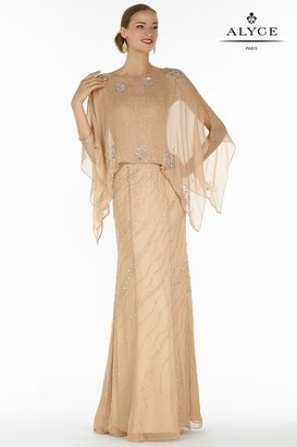 Alyce Paris Mother of the Bride - 29088 Dress In Taupe $510 thestylecure.com