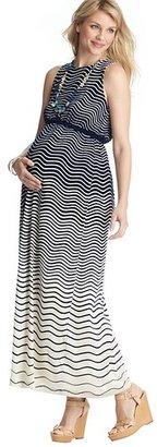 LOFT Maternity Pretty Waves Tank Maxi Dress