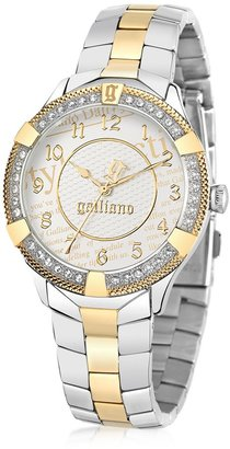 John Galliano The Costumier Two Tone Stainless Steel Crystal Women's Watch