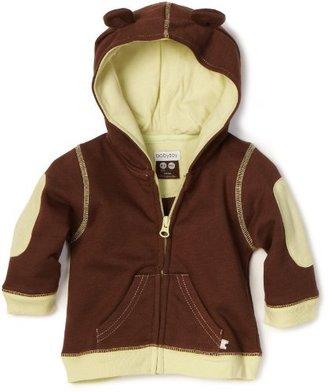 Baby Soy Baby-Boys Newborn Soft Fleece Hoodie, Chocolate