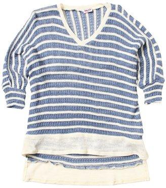 Splendid Littles Panama Stripe Top (Big Kids) (Cobalt) - Apparel