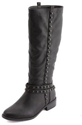 Charlotte Russe Tonal Studded Riding Boot