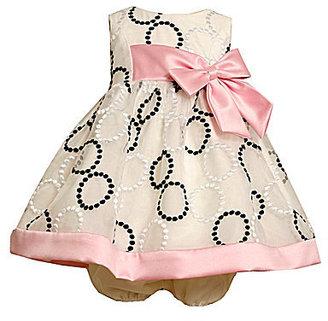 Bonnie Baby Newborn Embroidered-Circle Dress