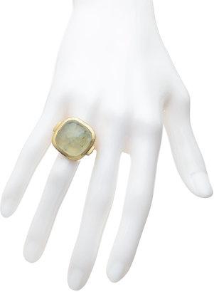Dream Mullick Prehnite Cabochon Ring