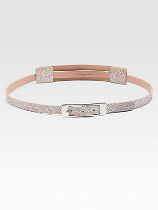 Maison Martin Margiela Metallic Accented Leather Belt