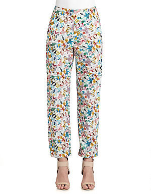 Cacharel Butterfly-Print Cotton Pants