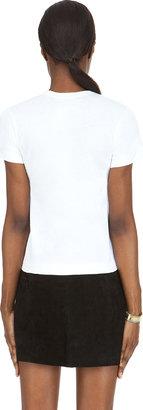 Comme des Garcons White Black Emblem T-Shirt