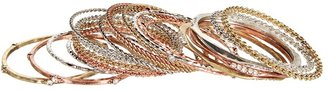 Gypsy SOULE Mixed Metal 14-Piece Bangle Set (Mixed Metal) - Jewelry