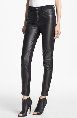 McQ by Alexander McQueen Faux Leather & Stretch Denim Pants