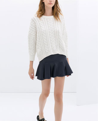 Zara Poplin Mini Skirt